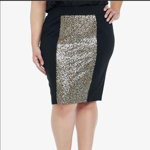 Sequins pencil skirt